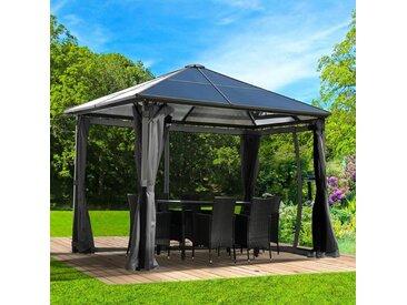 Brast - Alu-Pavillon Summerdream 3x3m grau