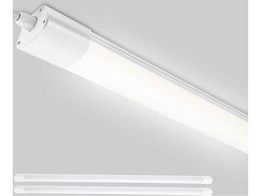 2er LED Feuchtraumleuchte 120CM 32W 2800LM Werkstattlampe(200W Glühbirne Ersatz), IP65 Wasserdicht Flimmerfrei Wannenleuchte für Werkstatt, Garage, Lager, Garten, Feuchtraum, 4000K - Oeegoo