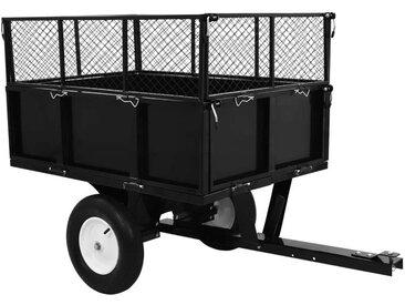Kippanhänger für Rasentraktor 300 kg Last DDH35243 - Hommoo