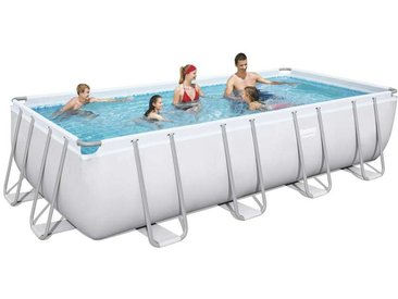 Bestway 56466 Oberirdischer Pool Schwimmbad Rechteckig 549x274x122cm