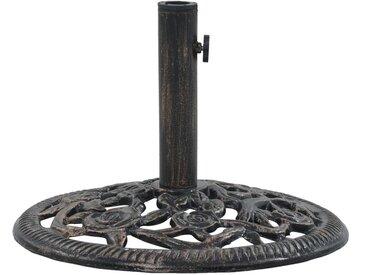 Hommoo Sonnenschirmständer Bronze 12 kg 48 cm Gusseisen