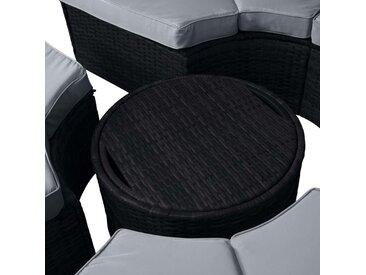 Sonneninsel mit LED inkl. Abdeckung schwarz/grau
