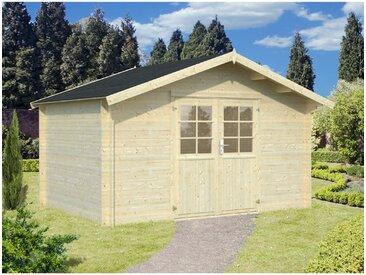 Der Holzwurm - 34 mm Gartenhaus Greta - ca. 400x300 cm unbehandelt