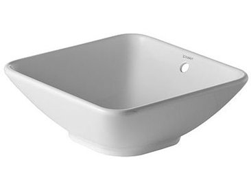 Duravit Bacino Aufsatzbecken, ohne Hahnloch, mit Überlauf, 420 mm, ohne Hahnlochbank, Farbe: Weiß - 0333420000
