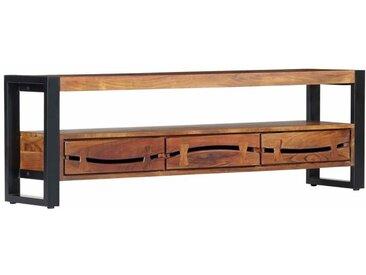 TV-Schrank 140×30×45 cm Massivholz Akazie