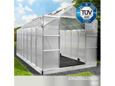 Aluminium-Gewächshaus 430x250x235