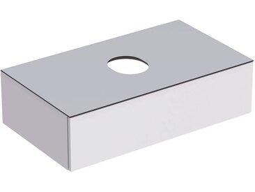 Geberit VariForm Unterschrank für Aufsatzwaschtisch, eine Schublade, Ablagefläche, Geruchsverschluss, Breite 90 cm, Farbe (Front/Korpus): Oberfläche: weiß lackiert, hochgänzend, Deckplatte: weiß matt - 501.165.00.1
