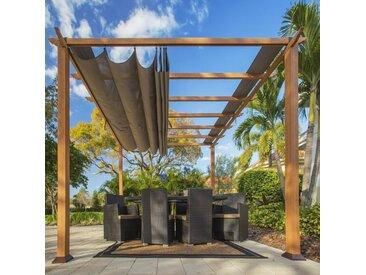 Pergola 'Florida' holzoptik 350 x 350 x 235 cm (L x B x H) - Paragon Outdoor