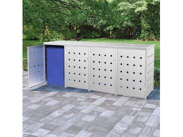 YOUTHUP Mülltonnenbox für 4 Tonnen 240 L Edelstahl