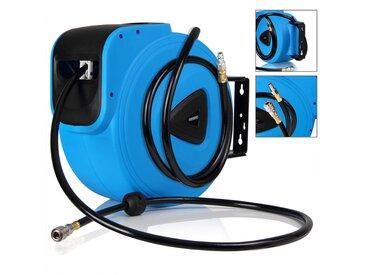 Deuba Druckluftschlauch Aufroller automatisch   20m   1/4 Anschluss - Schlauchtrommel Abroller Schlauchaufroller