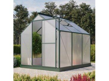 Vitavia Aktionsangebot (inkl. 100 Euro Zubehör): Gewächshaus 'Eos 4600' smaragd 4 mm HKP