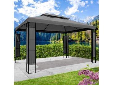 Pavillon Breeze 3x4 m anthrazit inkl. LEDs