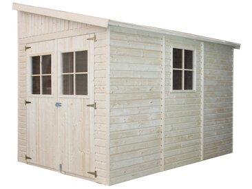 Holz Gartenschuppen - Abstellkammer mit Fenstern - 318x211 cm/6,02 m² Naturholz-Shiplap-Schuppen - Gartenwerkstatt - Fahrrad- Geräteschuppen TIMBELA M339A