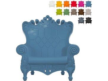 Modernes Design Thronsessel Rutsche QUEEN OF LOVE | Farbe: Blau