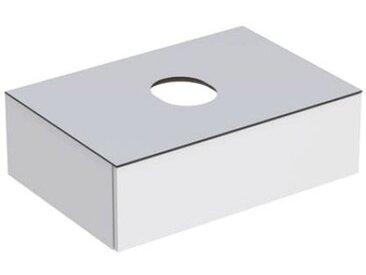 Geberit VariForm Unterschrank für Aufsatzwaschtisch, eine Schublade, Ablagefläche, Geruchsverschluss, Breite 75 cm, Farbe (Front/Korpus): Oberfläche: weiß lackiert, hochgänzend, Deckplatte: weiß matt - 501.159.00.1