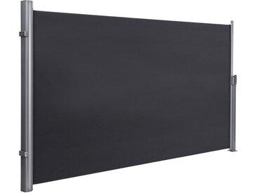 Songmics - Seitenmarkise 200 x 350cm Markisenstoff aus Polyester 280g/m² 2 Montagearten Rauchgrau GSA205G