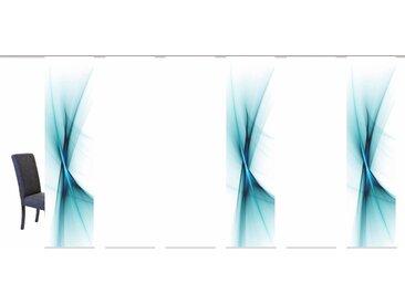 Schiebegardine, OLE, HOME WOHNIDEEN, Klettband 6 Stück 1, H/B: 245/60 cm, blickdicht, grün Blickdichte Vorhänge Gardinen Gardine