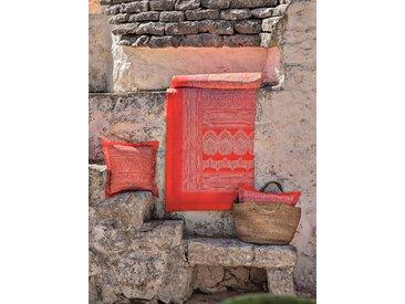 Plaid Brunelleschi, Bassetti 135x190 cm, Baumwolle orange Baumwolldecken Decken Wohndecken