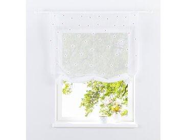 Home affaire Bändchenrollo MAJA, mit Stangendurchzug 140 cm, Stangendurchzug, 100 cm weiß Esszimmergardinen Gardinen nach Räumen Vorhänge