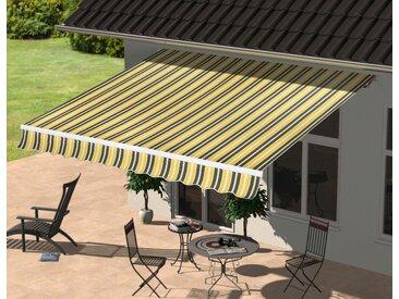 KONIFERA Gelenkarmmarkise 295x250 cm, Breite/Ausfall: 295/250 Neigungswinkel verstellbar 295 250 cm gelb Markisen Garten Balkon