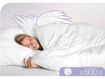 Schlafstil Naturhaarbettdecke N500, leicht, (1 St.), hergestellt in Deutschland, allergikerfreundlich B/L: 240 cm x 220 cm, leicht weiß Allergiker Bettdecke Bettdecken Bettdecken, Kopfkissen Unterbetten