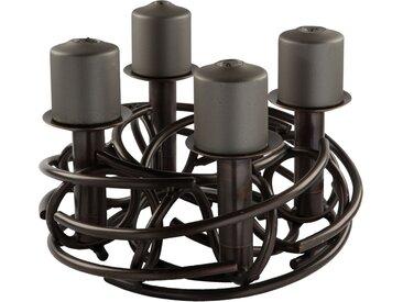 Fink Kerzenleuchter CORONA, 4-flammig, Ø ca. 40 cm H: 15 braun Kerzenhalter Kerzen Laternen Wohnaccessoires