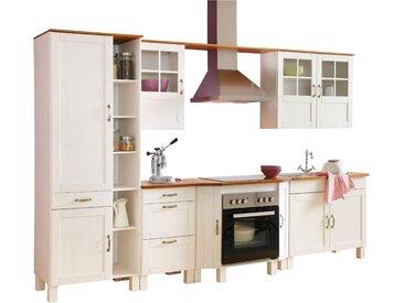 Home affaire Küchen-Set Alby, ohne E-Geräte, Breite 325 cm, aus massiver Kiefer Tiefe 50 cm weiß Küchenzeilen Geräte -blöcke Küchenmöbel Arbeitsmöbel-Sets