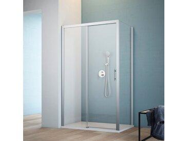 maw Eckdusche A-FS60, ebenerdiger Einbau möglich Einheitsgröße silberfarben Duschkabinen Duschen Bad Sanitär