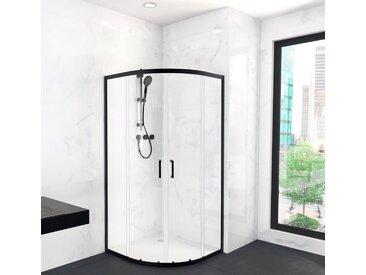 Marwell Eckdusche CITY, Schiebetür mit doppelten Leichtlaufrollen B/H: 90 cm x 200 farblos Duschkabinen Duschen Bad Sanitär Bodenablauf