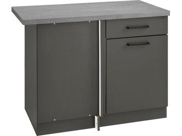 wiho Küchen Eckunterschrank Esbo 110 x 85 60 (B H T) cm, 1-türig grau Unterschränke Küchenschränke Küchenmöbel Schränke