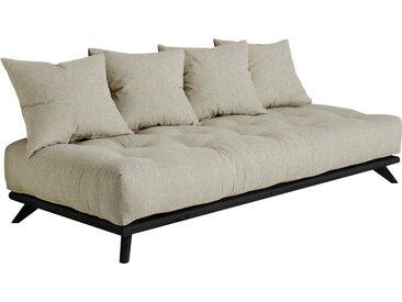 Karup Design Daybett Senza Daybed, mit Holzstruktur Leinenstoff, Liegefläche B/L: 90 cm x 200 Betthöhe: 85 cm, kein Härtegrad, Futonmatratze grau Einzelbetten Betten