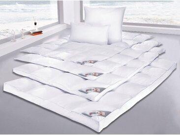 Gänsedaunenbettdecke, Anton, my home, Füllung: 90% Gänsedaunen, 10% Federn, Bezug: 100% Baumwolle weiß, 155x220 cm, Premium weiß Daunendecke Bettdecken Bettdecken, Kopfkissen Unterbetten Bettdecke