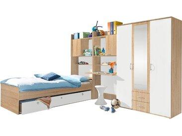 rauch BLUE Jugendzimmer-Set Emilio, (Set, 4 St.) Mit 3-trg. Kleiderschrank beige Kinder Kindermöbel Nachhaltige Möbel