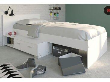 Parisot Stauraumbett Galaxy 90x200 cm weiß Einzelbetten Betten