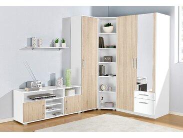 Jugendzimmer-Set, (Set, 5 St.) mit 2-trg. Kleiderschrank beige Kinder Kindermöbel Nachhaltige Möbel Jugendzimmer-Set