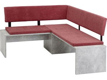 SCHÖSSWENDER Sitzbank Elegance, pflegeleicht B/H/T: 140 cm x 87,7 170 cm, Polyester, langer Schenkel rechts rot Eckbänke Sitzbänke Stühle