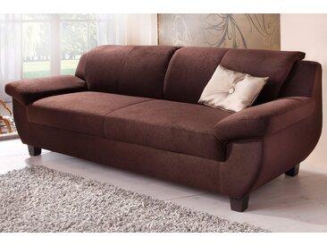 Home affaire 2-Sitzer Yesterday Microfaser, 159 cm, ohne Funktion braun Sofas Einzelsofas Couches