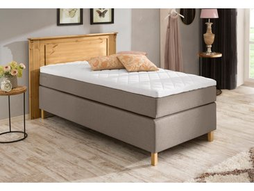Home affaire Boxspringbett Tessin-Box 90x200 cm, Bonnell-Federkernmatratze, H2 beige Einzelbetten Betten Komplettbetten