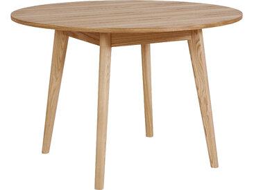 andas Esstisch Alfredo, Beine aus Massivholz B/H: 110 cm x 75 beige Holz-Esstische Holztische Tische