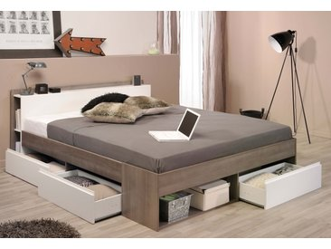 Parisot Stauraumbett Most 0, 140x200 cm braun Doppelbetten Betten