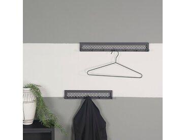 Spinder Design Garderobenhalter Mesh, Breite 51 cm B/H/T: x 6,5 4,6 schwarz Ständer, Halterungen Haken Aufbewahrung Ordnung Wohnaccessoires