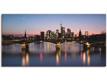 Artland Wandbild Skyline 1, Deutschland, (1 St.) 150x75 cm, Leinwandbild blau Bilder Bilderrahmen Wohnaccessoires