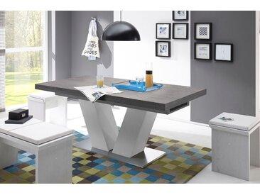 Esstisch Komfort D, mit V-Gestell in weiß und Auszugsfunktion, Breite 180-260 cm B/H/T: 180 x 76 90 Ausziehbare Esstische Tische