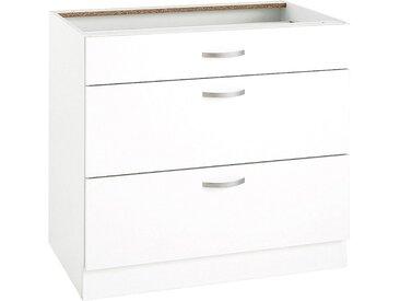 wiho Küchen Unterschrank Flexi Einheitsgröße weiß Unterschränke Küchenschränke Küchenmöbel Schränke
