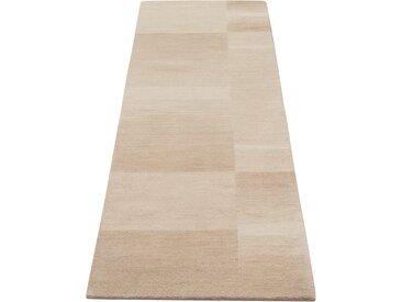 Theko Exklusiv Läufer Jorun, rechteckig, 14 mm Höhe, von Hand gearbeitet 11, 70x240 cm, beige Teppichläufer Bettumrandungen Teppiche
