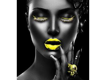 Leonique Acrylglasbild Gesicht B/H/T: 120 cm x 2,4 gelb Acrylglasbilder Bilder Bilderrahmen Wohnaccessoires