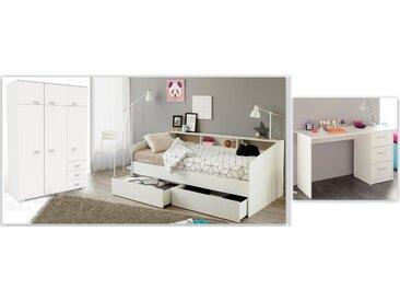 Parisot Jugendzimmer-Set Sleep, (Set, 3 tlg.) Einheitsgröße weiß Kinder Komplett-Kinderzimmer Kindermöbel Schlafzimmermöbel-Sets