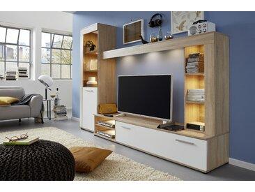 trendteam Wohnwand Logo (Set, 4-tlg) Einheitsgröße beige Moderne Wohnwände Schränke Kastenmöbel-Sets
