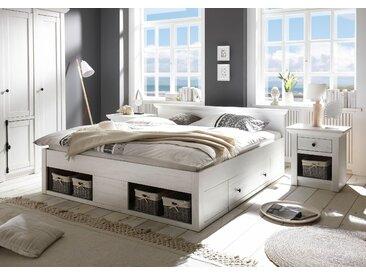 Home affaire Bett California 180x200 cm weiß Doppelbetten Betten
