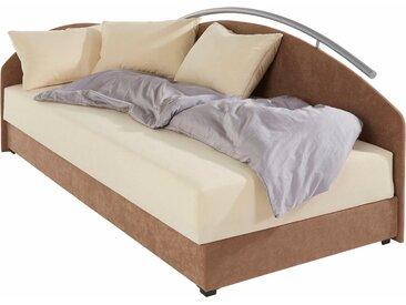 Maintal Polsterliege 90x200 cm, Federkern-Festpolster braun Einzelbetten Betten Komplettbetten